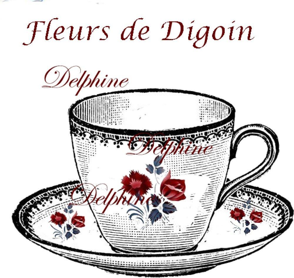 "Transfert à coudre ""Tasse de Digoin"" GF"