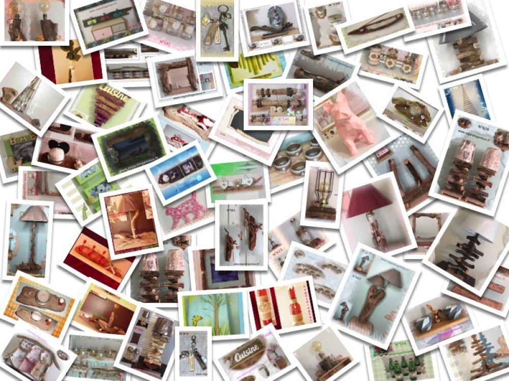 9 PHOTOPHORES N°674 RECYCLES EN VERRE BOHEME TOILE DE JUTE ET DENTELLE Fabrication artisanale
