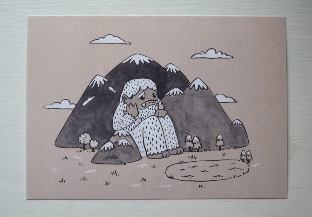 """Yeti"" impression illustration A5"