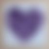 Carte coeur fleuri violet