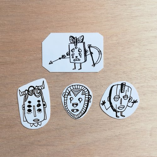 Stickers masques