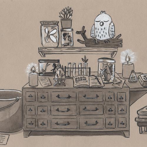 """laboratoire"" impression illustration"