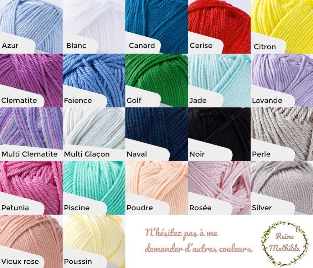 Prénom ou mot de 7 lettres en laine réalisé au tricotin