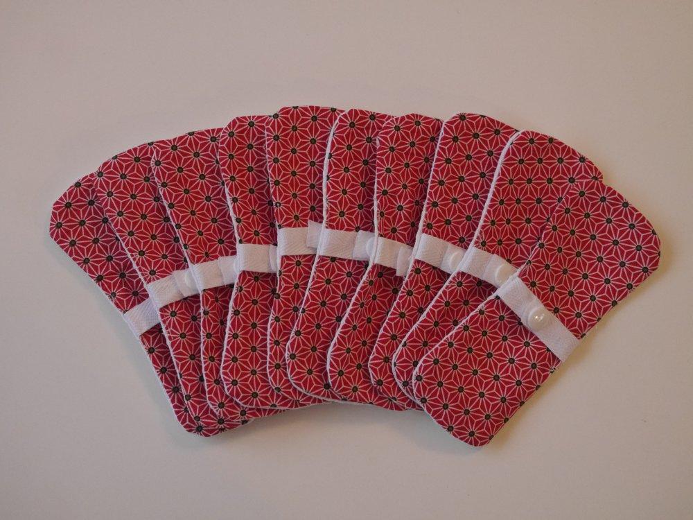 10 protèges slips rouge