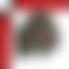 Sanglier ecusson brodé thermocollant marron grenat