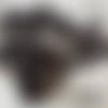 Fermeture noire séparable grosse maille métal argentée polie numero 8 sur mesure de 48 à 64 cm