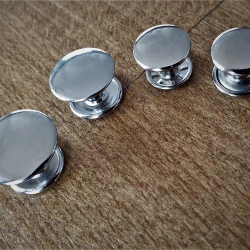 Gros rivets courts argenté diametre 11 12 15 17 mm , rivet tige tete , special cuir , double calottes