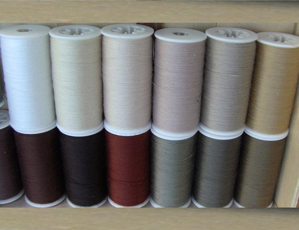 Fil à coudre de qualité polyester tout textiles 200 metres B&S