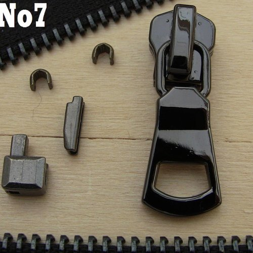 Kit m7 réparation fermeture séparables à glissiere métal numero 7