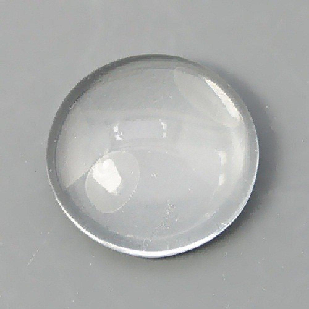 10 Cabochons en verre, dômes, cabochons ronds, cabochons loupe, diamètre 18mm x 5mm, Verre Transparent
