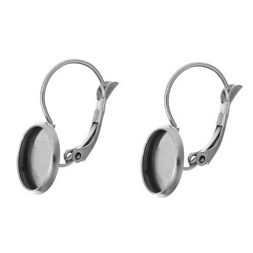 support cabochon pour boucle d'oreille