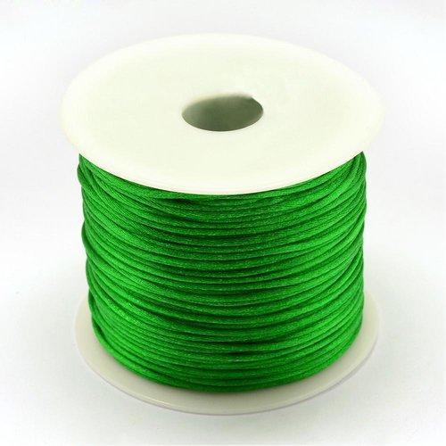 5 mètres 5m de fil en nylon satiné 1mm - queue de rat - couleur vert