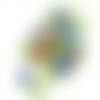 50 perles rondes 8mm en verre millefiori multicolore
