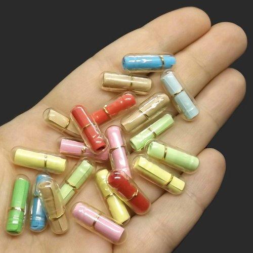 10 capsules 21mm x 7mm pour message d'amour