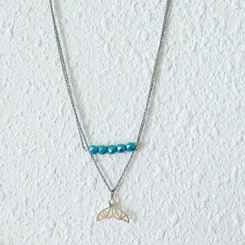 collier argent baleine