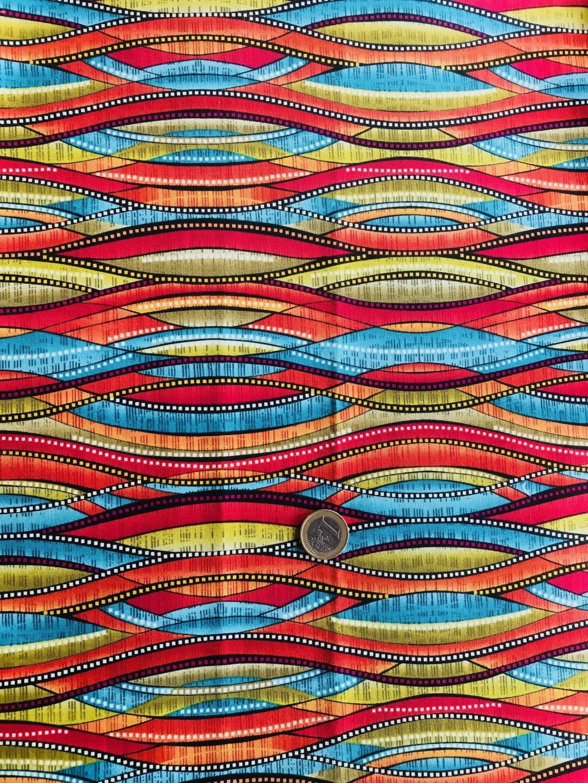 tissu patchwork multicolore, collection Patternista, de Benartex