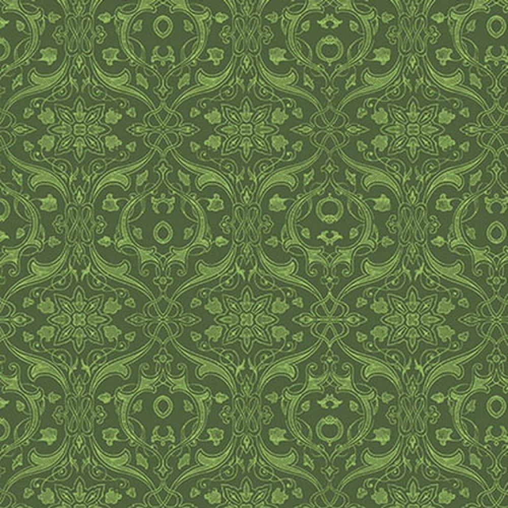 Tissu patchwork kaki de Parson Gray Curious Nature Dimitri Vine