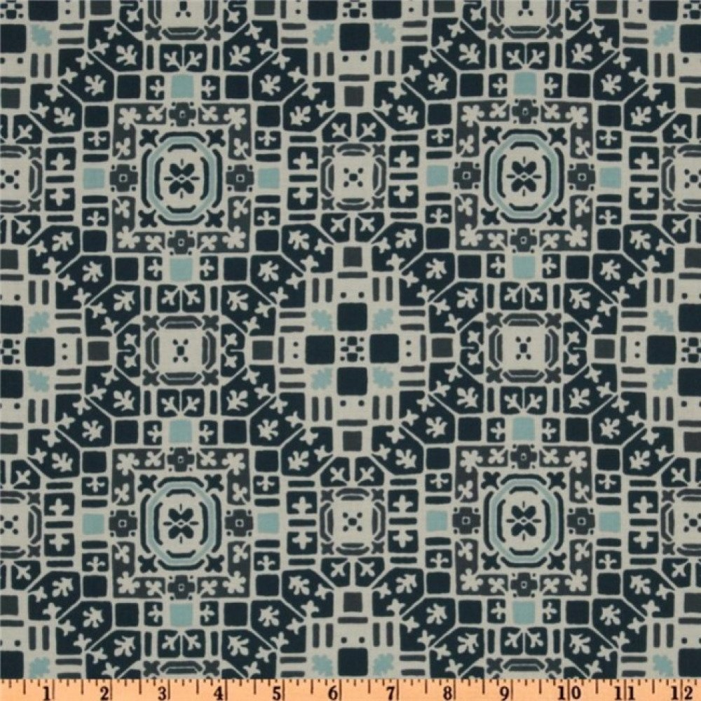 Tissu patchwork bleu blanc Curious Nature de Parson Gray French Quarter PWPG 004