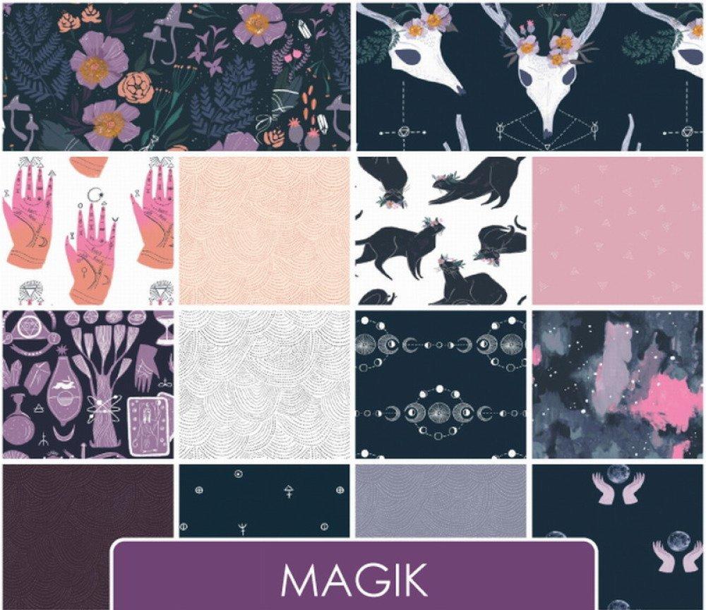 tissu patchwork blanc, motifs mains, DEARSTELLADESIGN, Magik palm chart