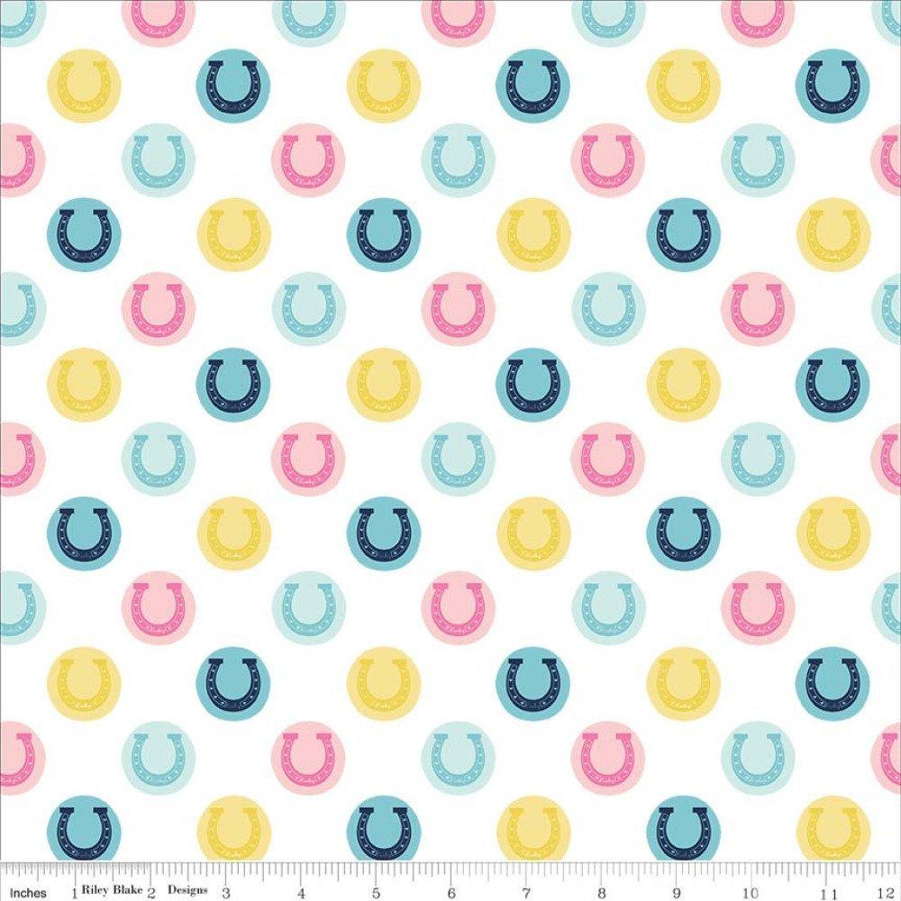tissu patchwork blanc et multicolore Riley Blake fabric Derby Style