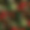 Tissu noël patchwork, noir, vert et rouge, santee prints fabrics, poinsettia