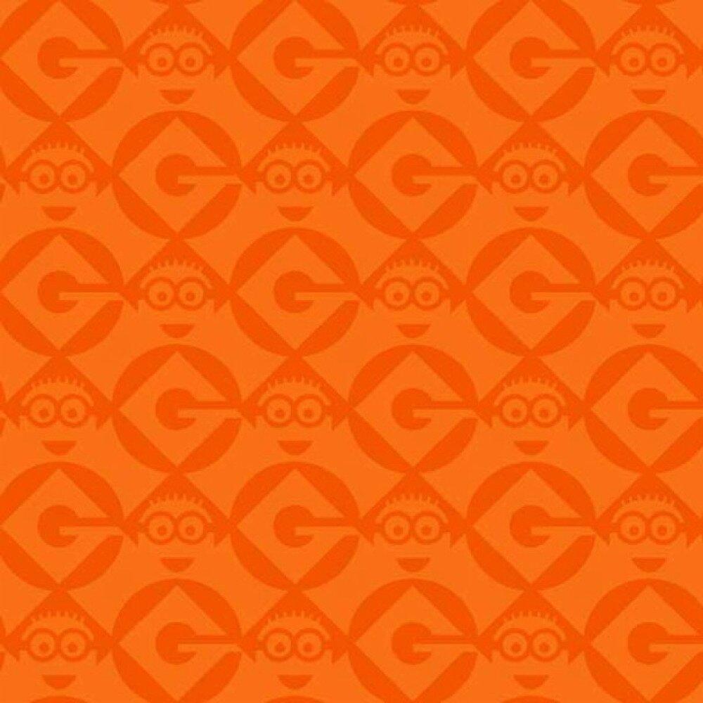 tissu enfant orange,MINION Quilting treasures