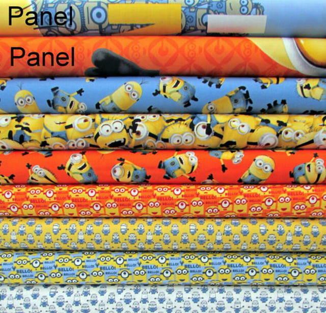 PANNEAU tissu patchwork enfant, MINION Quilting treasures