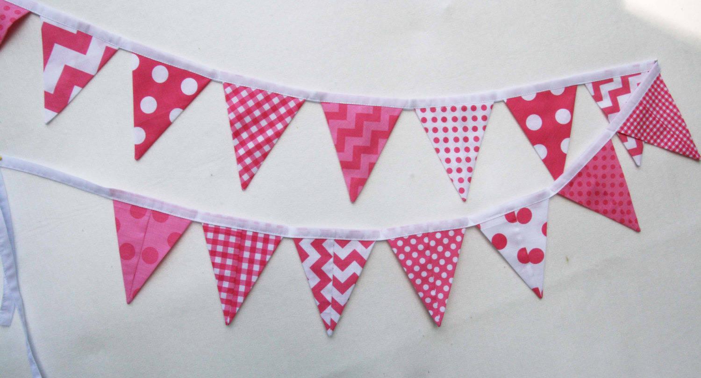 panneau de tissu  rose pour banderole déco enfant
