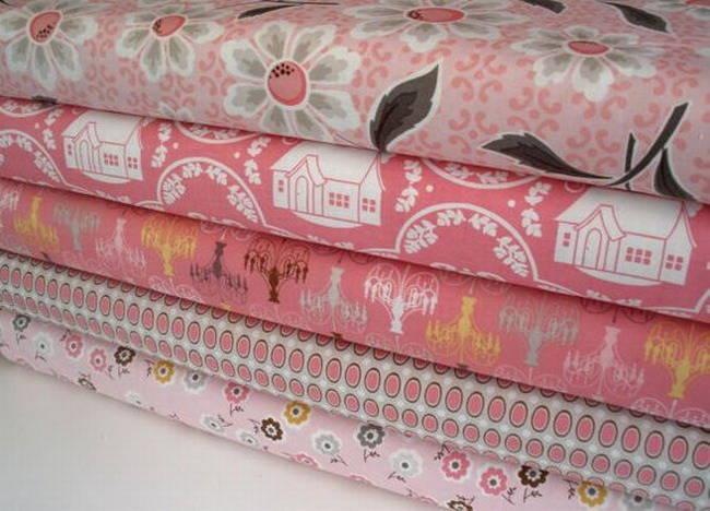 tissu patchwork rose RILEY BLAKE Daisy Cottage