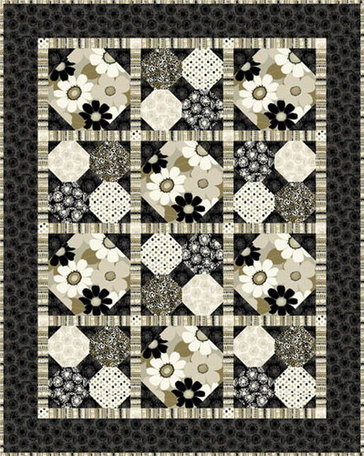 TISSU patchwork kaki, HA-BI-TAT, Michele D'Amore Designs, LLC for Benartex.