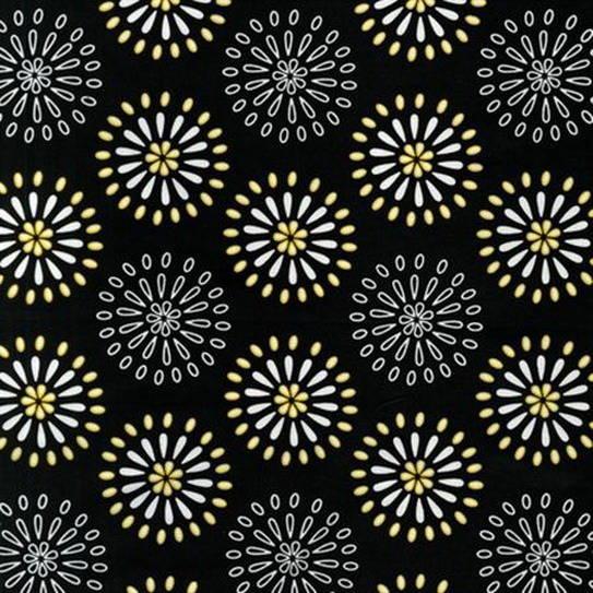 tissu Patchwork noir,  NIGHT AND DAY  Robert Kaufman