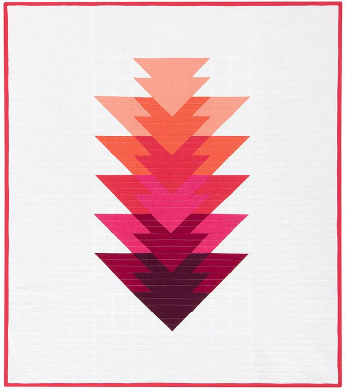 lot de 6 coupons tissu Kona solid pour quilt  ARROWHEAD rose et rouge