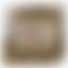 Petit sac en toile de jute avec prénom et motif flèche