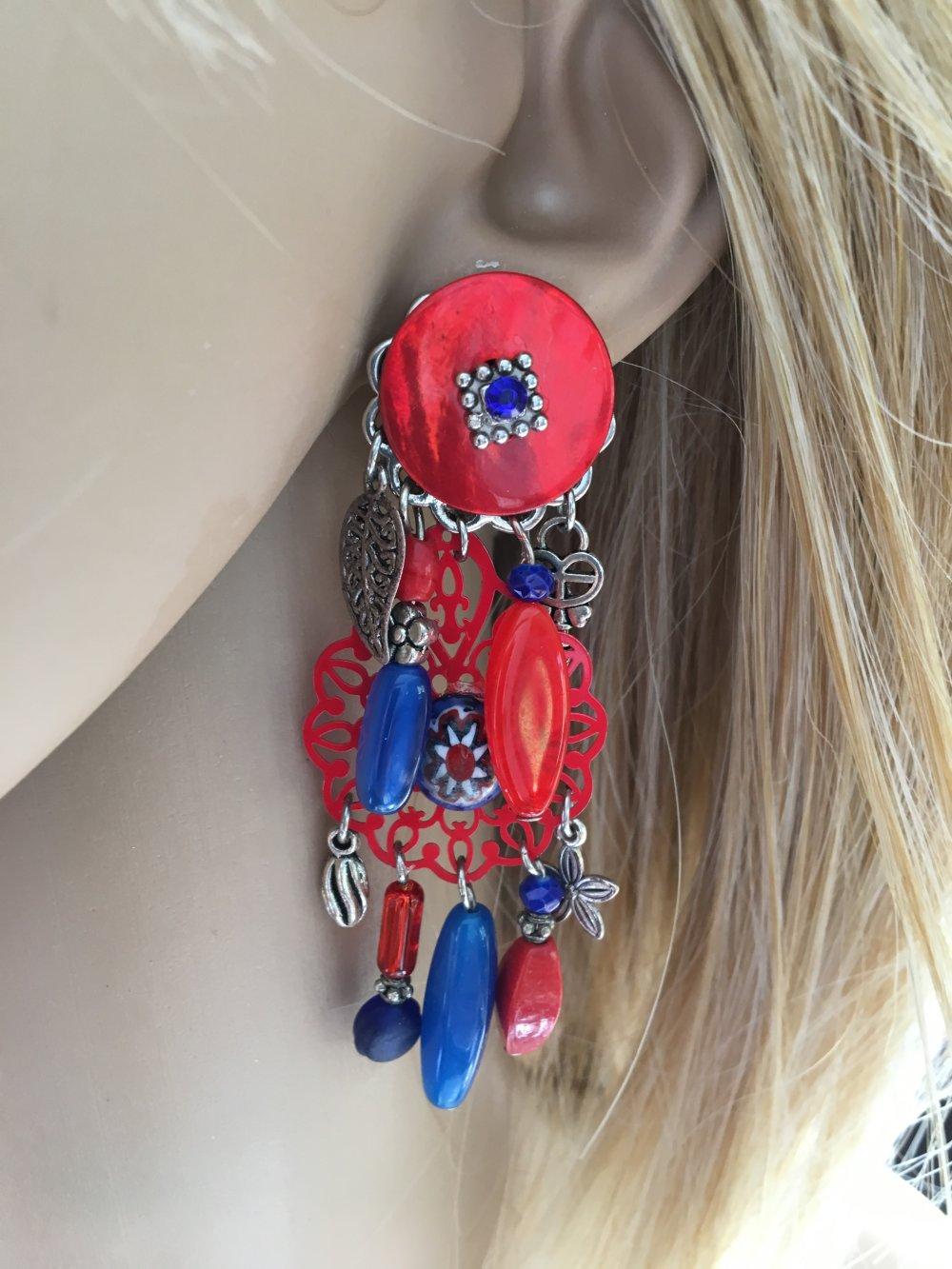 boucles d'oreilles fantaisie clips