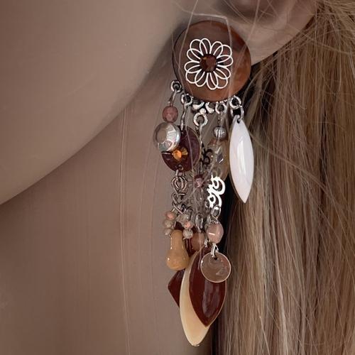 Longues boucles d'oreilles clips fantaisies
