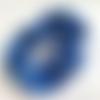 Chouchou en satin bleu