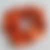 Chouchou en satin orange