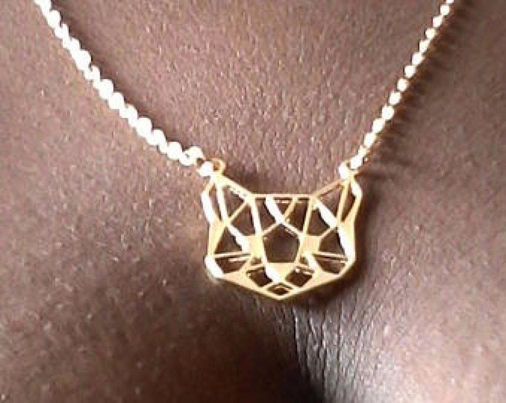 Boucles d'oreilles  et collier origami