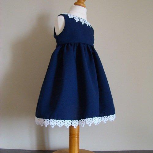 Robe bleu marine en dentelle 1 2 3 | Robe dentelle, Robe