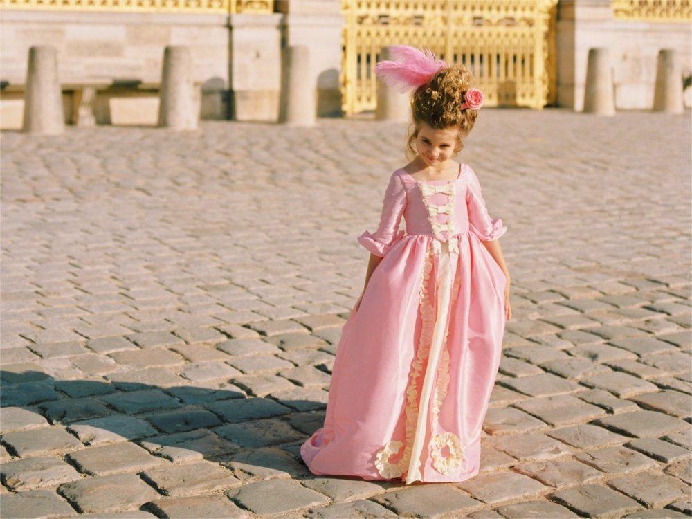 Robe fille 18ème Marie-Antoinette 4 à 6 ans