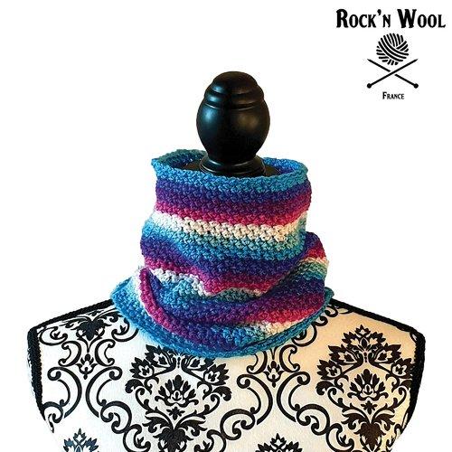 Tour de cou au crochet eileen multicolore