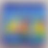 Paysage.peinture acrylique sur toile 20x20cm oeuvre d'art,unique,coloré