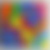 Abstrait.peinture acrylique sur toile 18x24cm ,coloré,oeuvre d'art,unique