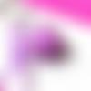 Porte clefs fimo macaron violet et fruits rouges