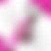 Porte clefs fimo donut rose