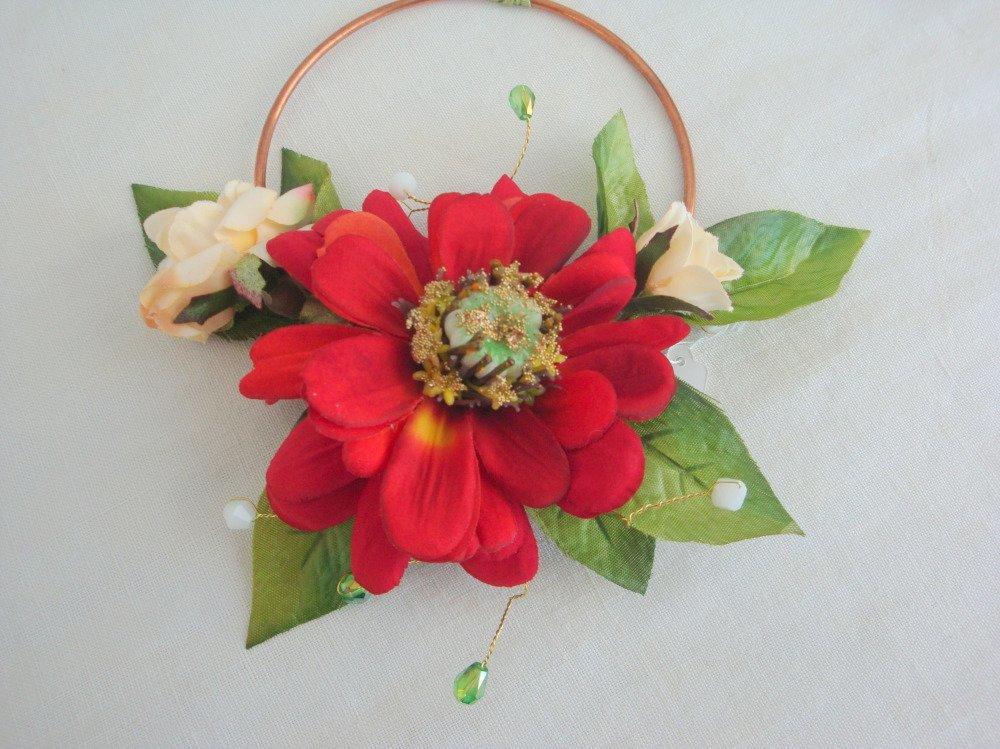 decoration florale le dalhia rouge