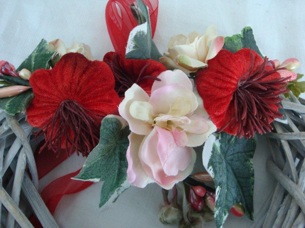 suspension florale hiver