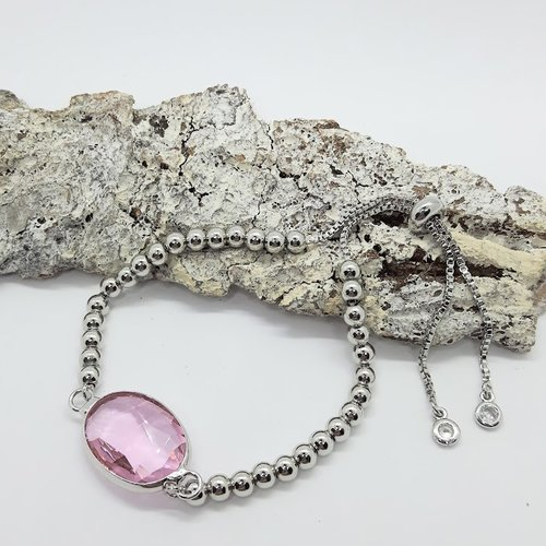 Bracelet argent et cristal