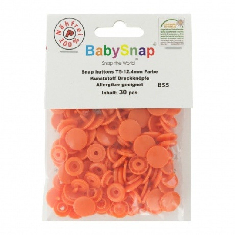 "Boutons pression ""BabySnap®"" rond orange"