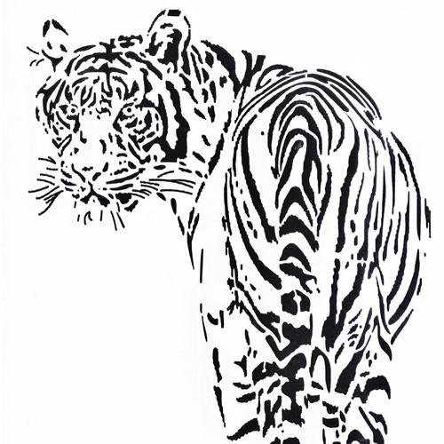 Pochoir tigre a4